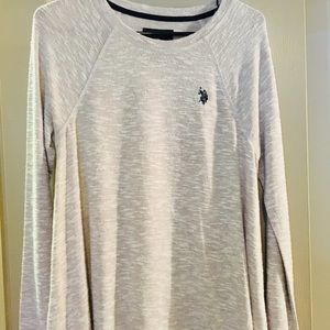 Brand new US Polo Assn scoop neck gray sweater